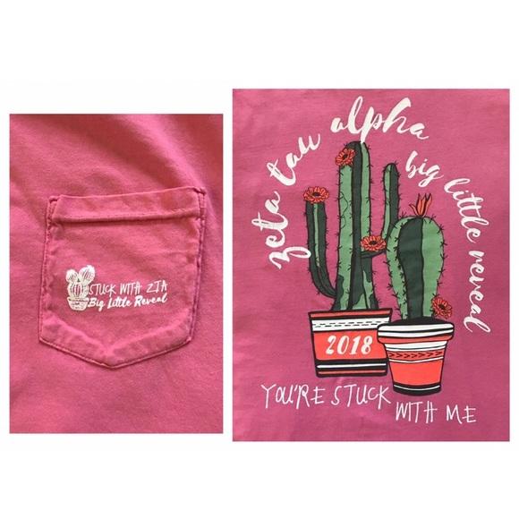 Comfort Colors Tops - Zeta Tau Alpha Comfort Colors T-shirt